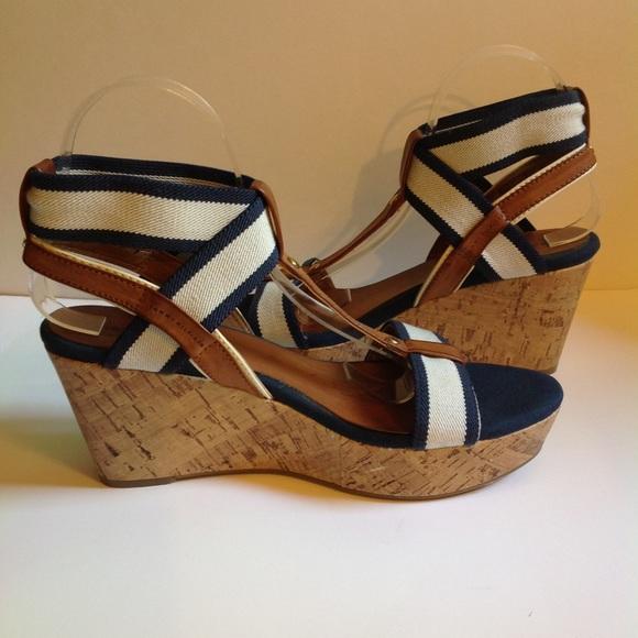 Tommy Hilfiger Cork Wedge Sandals